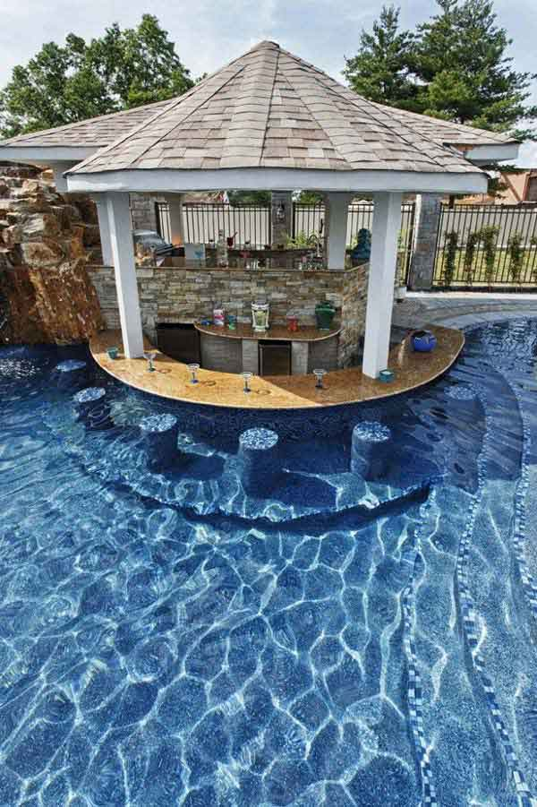 25 Summer Pool Bar Ideas to Impress Your Guests ... on Backyard Pool Bar Designs id=93072