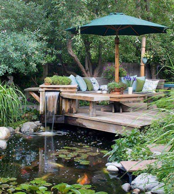 35 Impressive Backyard Ponds and Water Gardens ... on Backyard Pond Landscaping Ideas id=80095