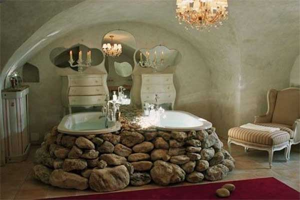21 Natural Stone Bathtub Ideas For Your Classy Bathroom