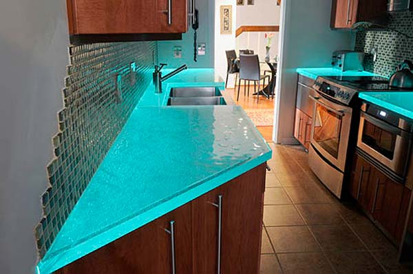 22 Modern and Stylish Glass Kitchen Countertop Ideas ... on Modern:egvna1Wjfco= Kitchen Counter Decor  id=47002