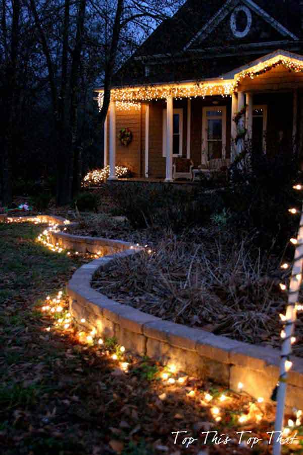 Top 46 Outdoor Christmas Lighting Ideas Illuminate The ... on Patio Decorating Ideas With Lights  id=82481