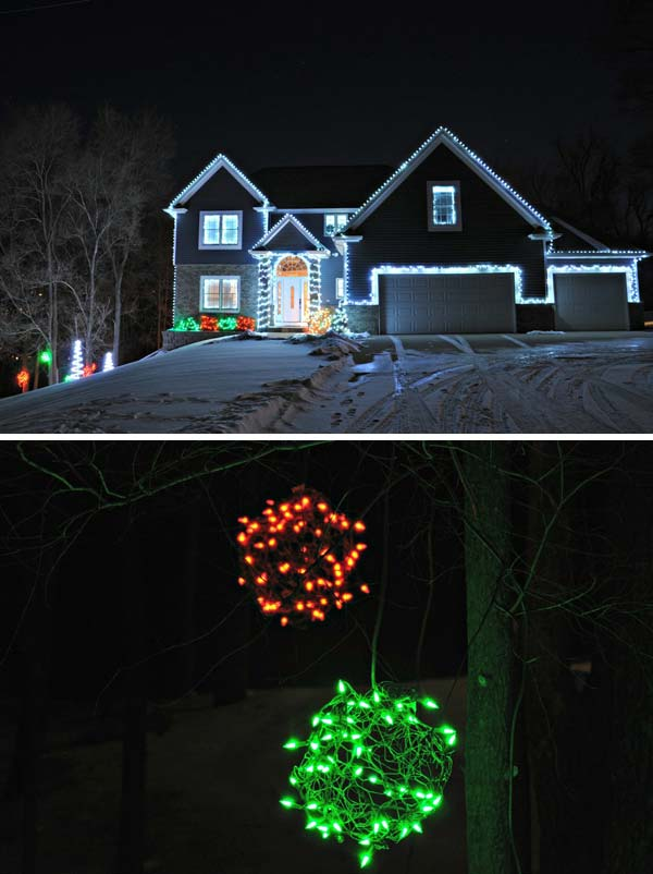Top 46 Outdoor Christmas Lighting Ideas Illuminate The ... on Patio Decorating Ideas With Lights  id=62250