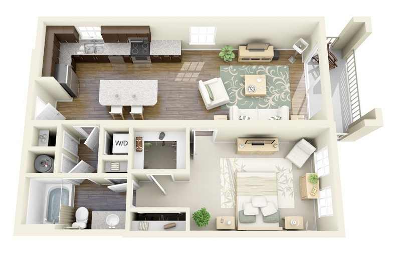 L Shaped Design Floor Plans