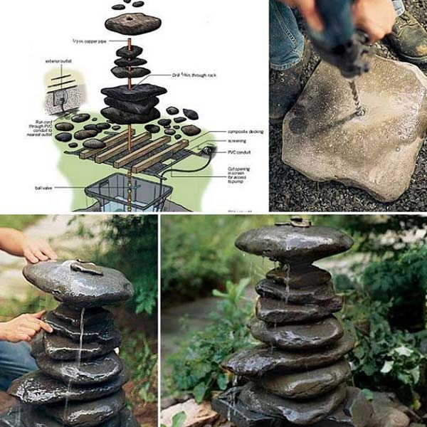 26 Fabulous Garden Decorating Ideas with Rocks and Stones ... on Rock Decorating Ideas  id=77340