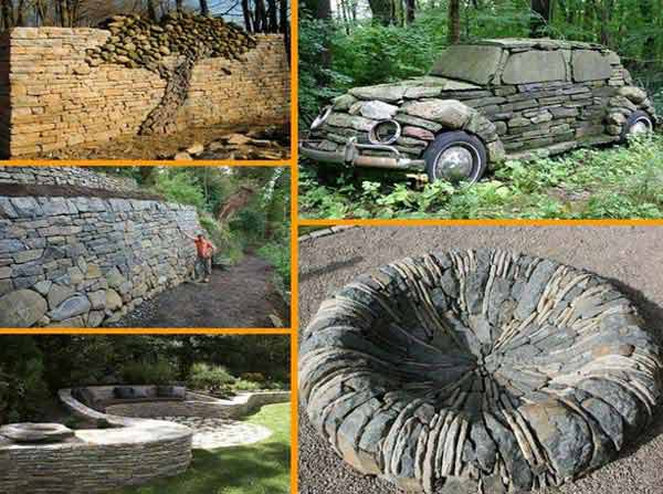 26 Fabulous Garden Decorating Ideas with Rocks and Stones ... on Rock Decorating Ideas  id=15800