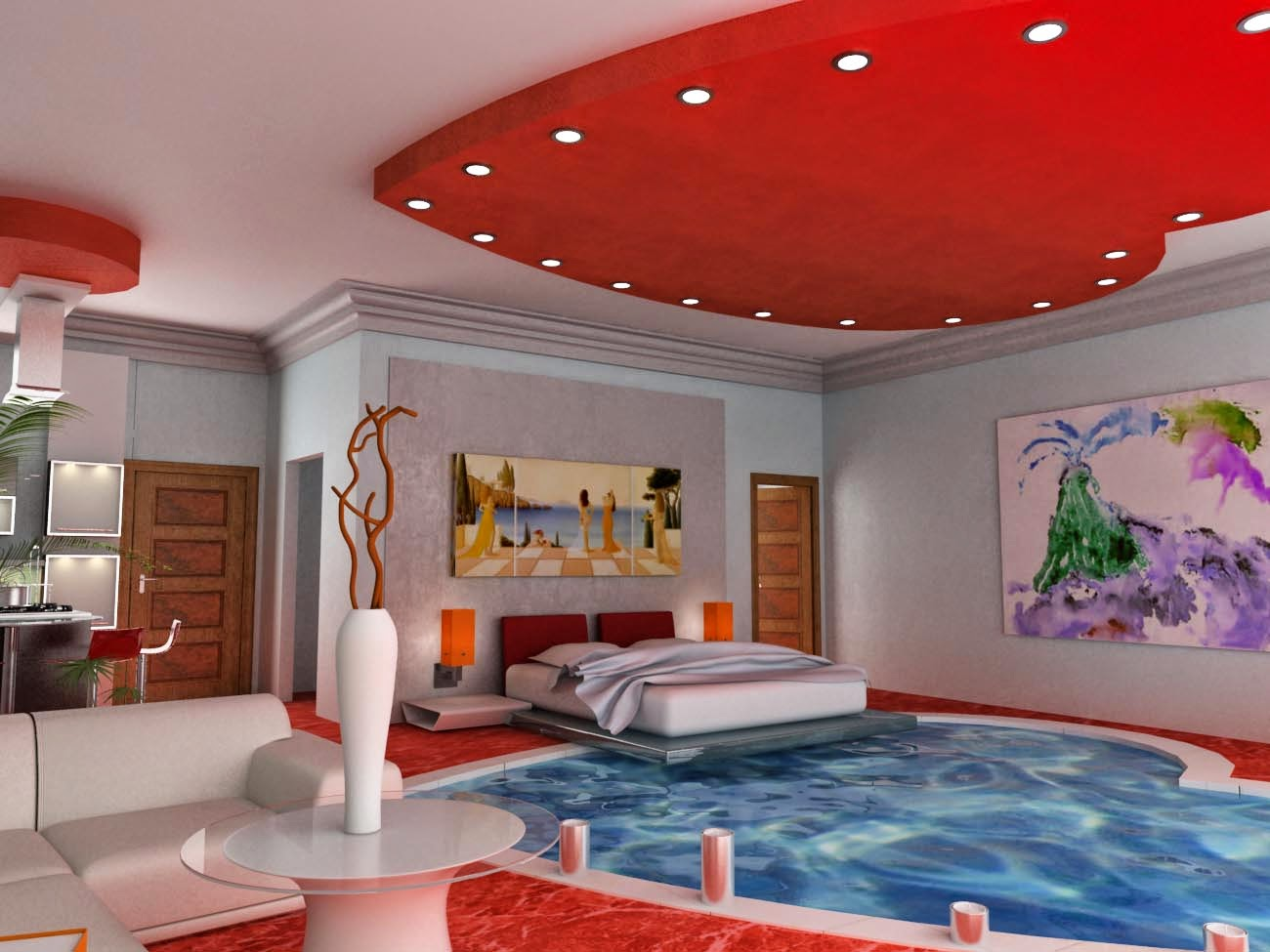 From Pillow To Pool: 25+ Amazing Bedrooms With Pool ... on Amazing Bedroom  id=98617