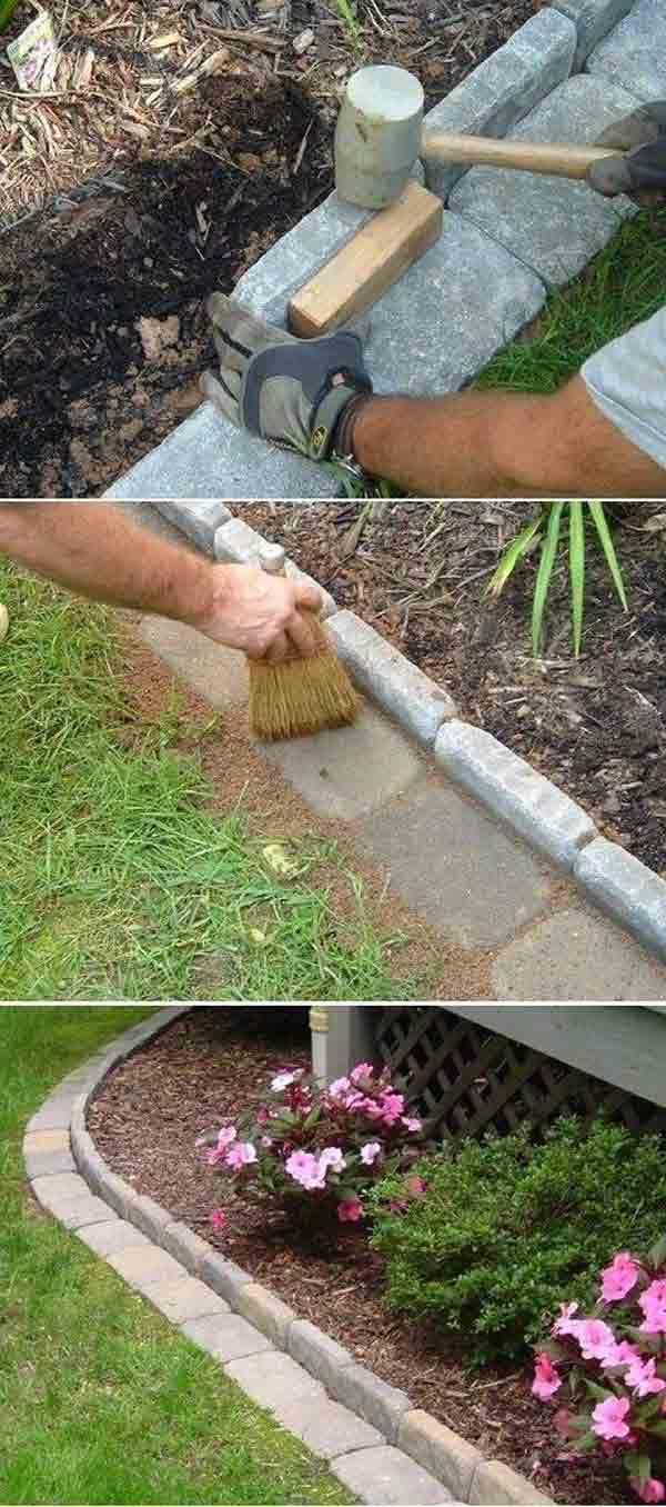 Top 28 Surprisingly Awesome Garden Bed Edging Ideas ... on Backyard Border Ideas id=72702