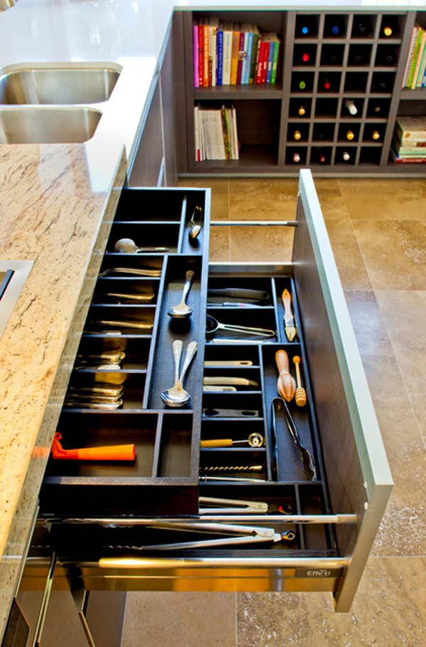 Top 27 Clever and Cute DIY Cutlery Storage Solutions ... on Remodel:ll6Wzx8Nqba= Small Kitchen Ideas  id=37179