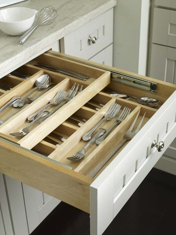 Top 27 Clever and Cute DIY Cutlery Storage Solutions ... on Remodel:ll6Wzx8Nqba= Small Kitchen Ideas  id=37335