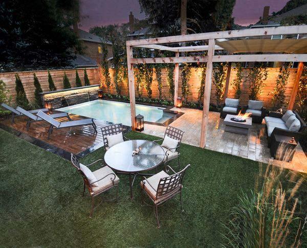 25+ Fabulous Small Backyard Designs with Swimming Pool ... on Backyard Layout id=55492