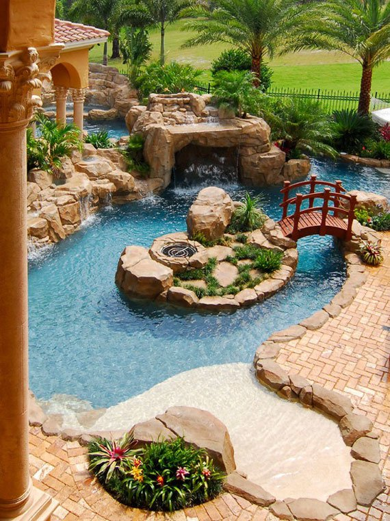 30 Beautiful Backyard Ponds And Water Garden Ideas ... on Stunning Backyards  id=19056