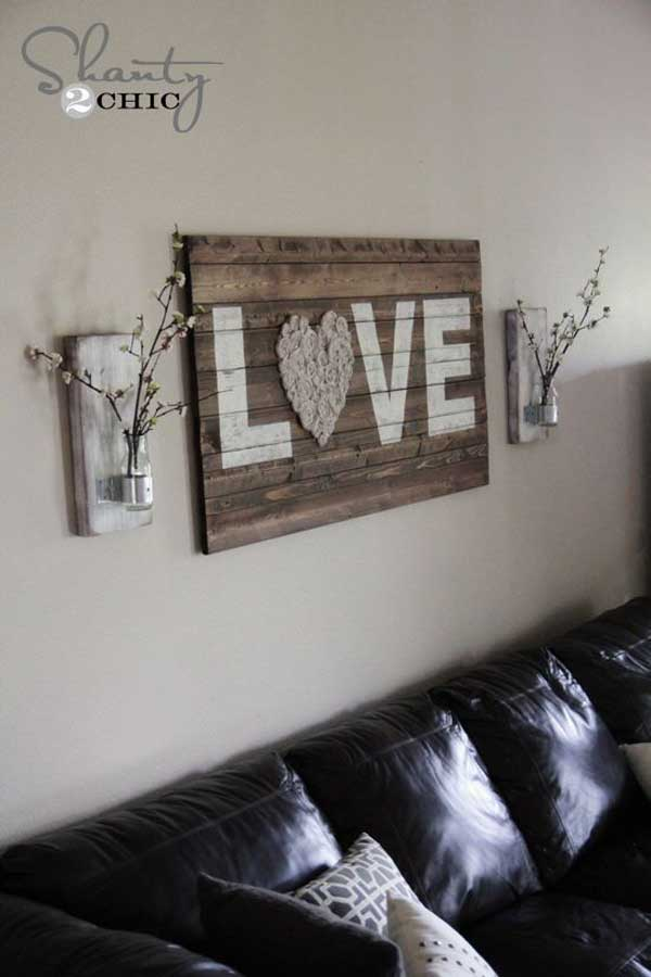 Decorating a small home might seem like a bit of a challenge at first. 20+ Recycled Pallet Wall Art Ideas for Enhancing Your Interior