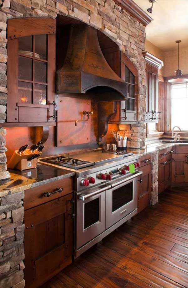 20+ Stunning Stone Kitchen Ideas Bring Natural Feel Into ... on Rustic:1Gdhjdx6F3G= Farmhouse Kitchen  id=61070
