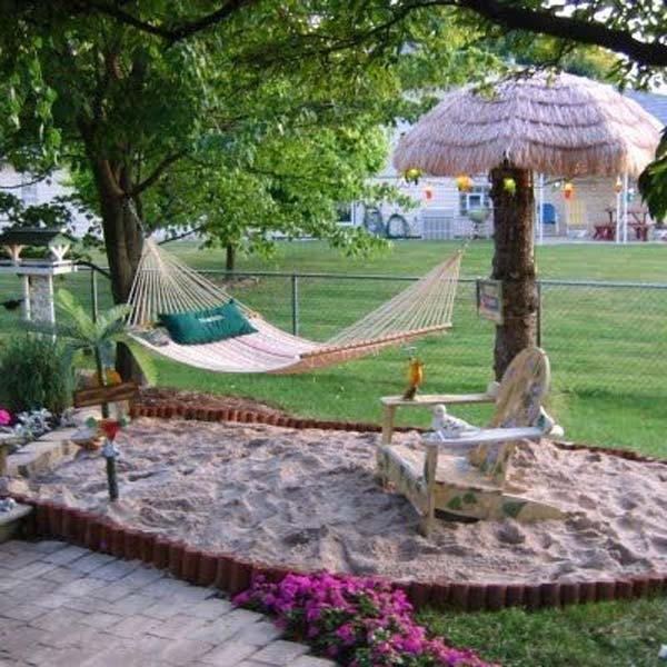 25+ Awesome Beach-Style Outdoor Living Ideas For Your ... on Nautical Backyard Ideas id=67144