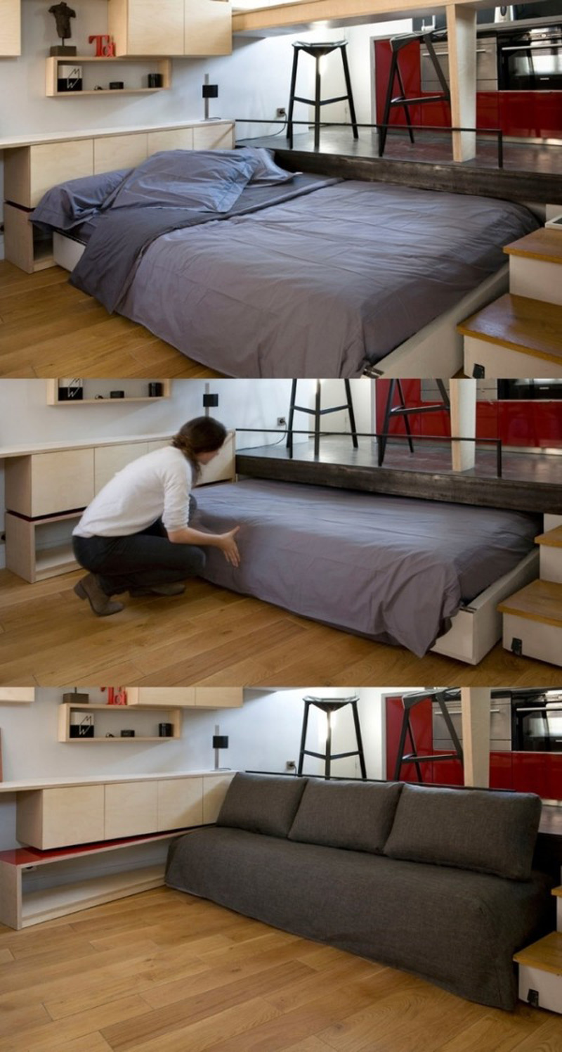 20+ Ideas Of Space Saving Beds For Small Rooms ... on Bedroom Ideas For Small Spaces  id=15889