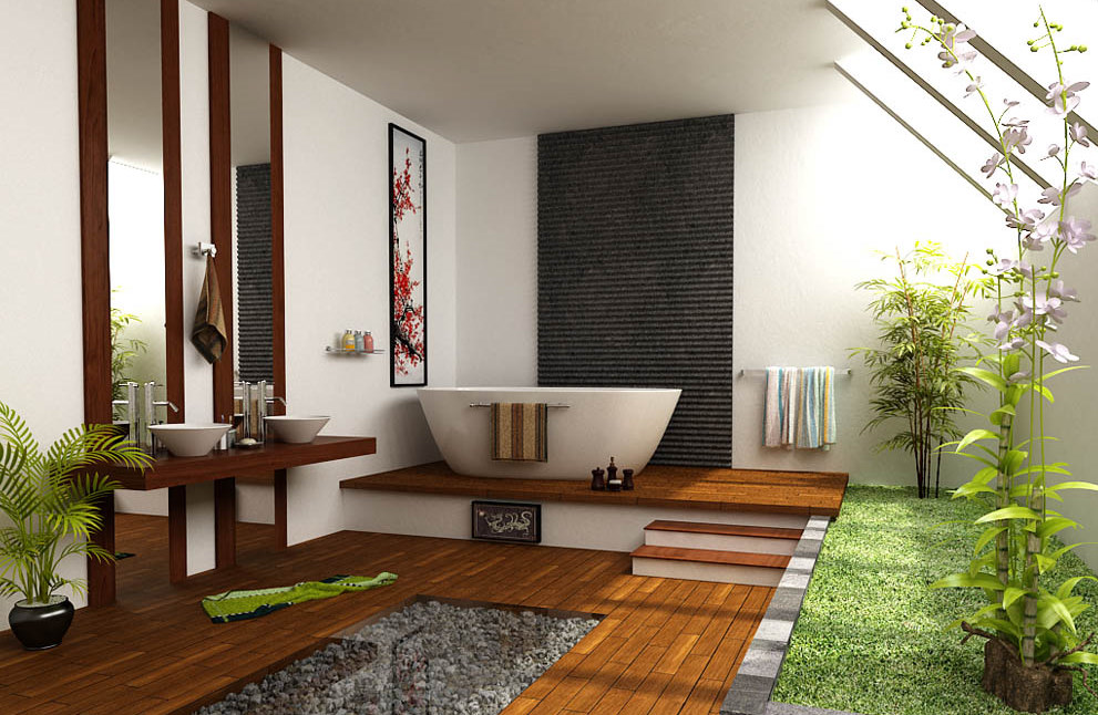 Wundervoll Airy Zen Bathroom Design
