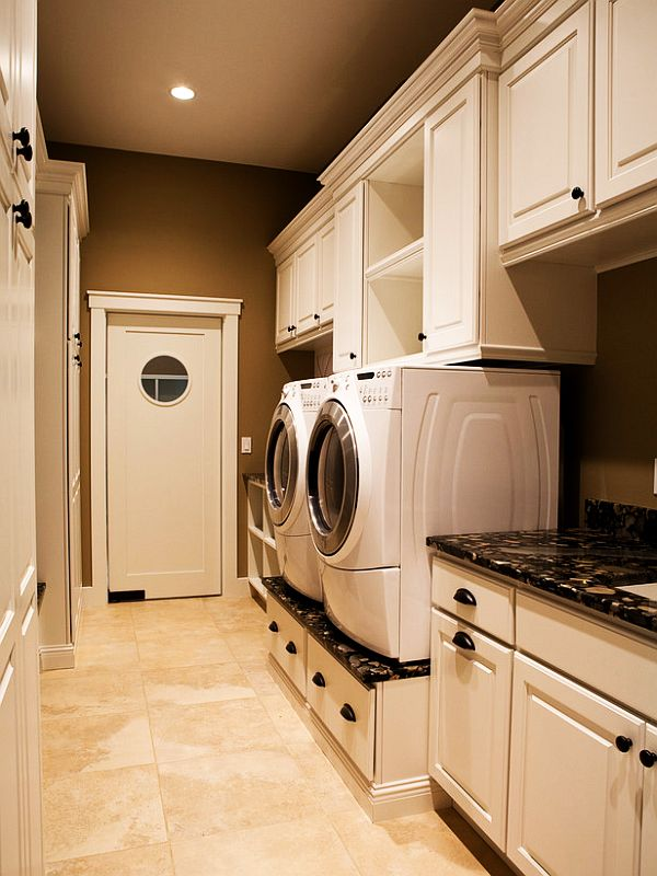 60 Clever Laundry Room Design Ideas To Inspire You ... on Laundry Cabinet Ideas  id=22467