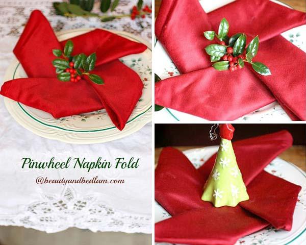 Creative Napkin Ideas For Your Christmas Dining Table
