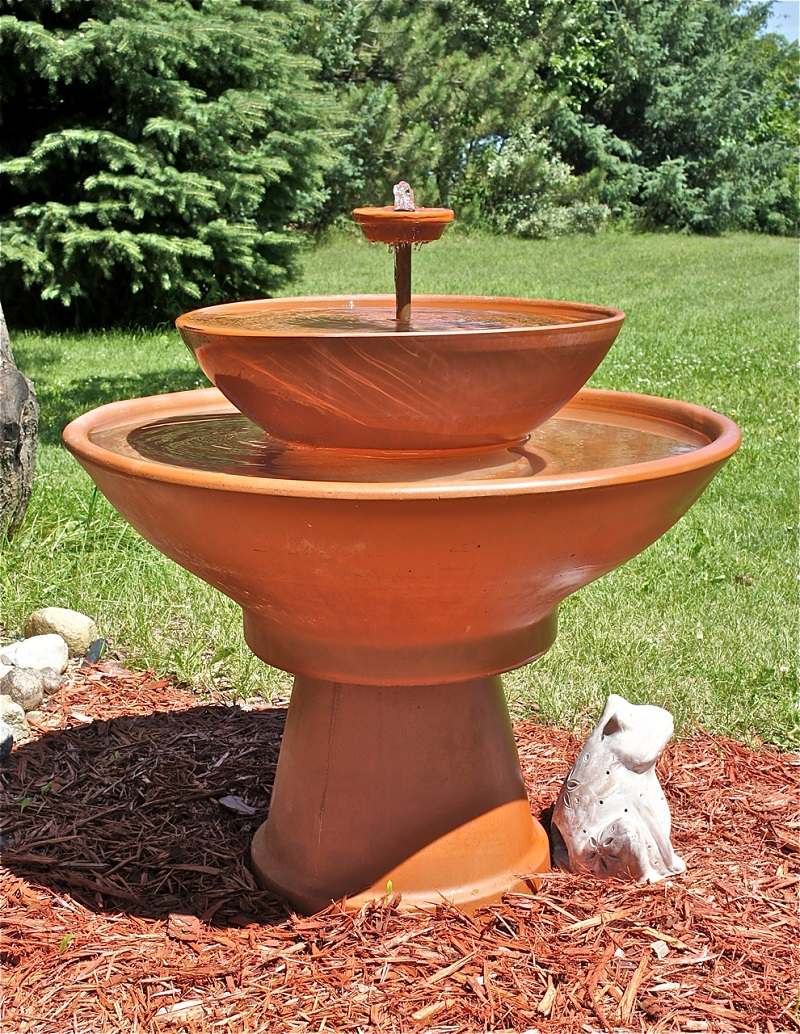how to build a terra cotta Terracotta Water Fountain id=18642
