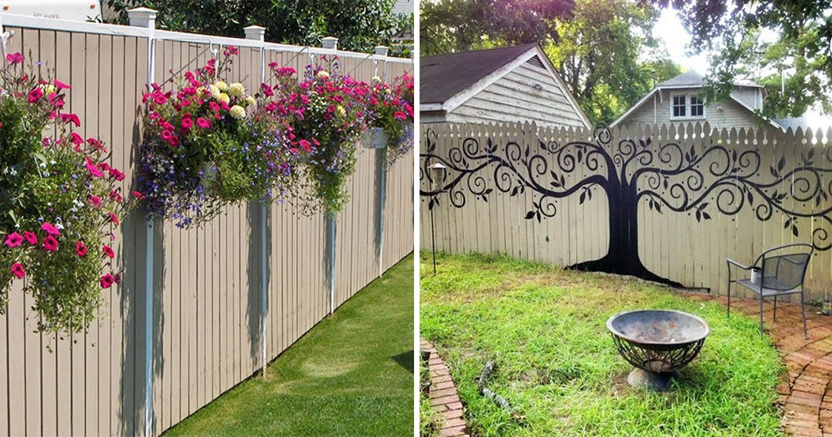 55+ People Who Took Their Backyard Fences To Another Level on Backyard Wall Decor Ideas  id=36274