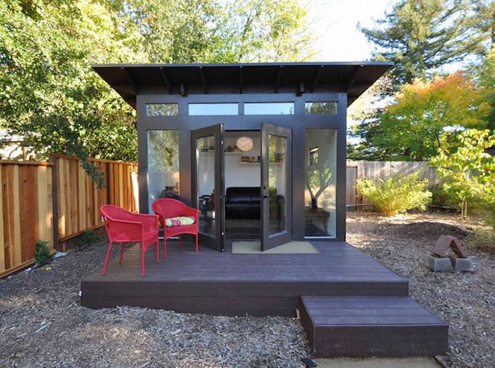 "Forget The Man Cave Looks This Stylish ""She Shed"" Cave For ... on Man Cave Patio Ideas  id=34067"