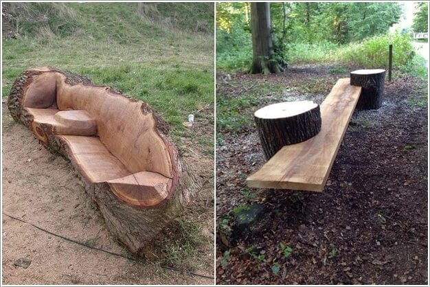10 Absolutely Wonderful Tree Stump Landscaping and Decor Ideas 6