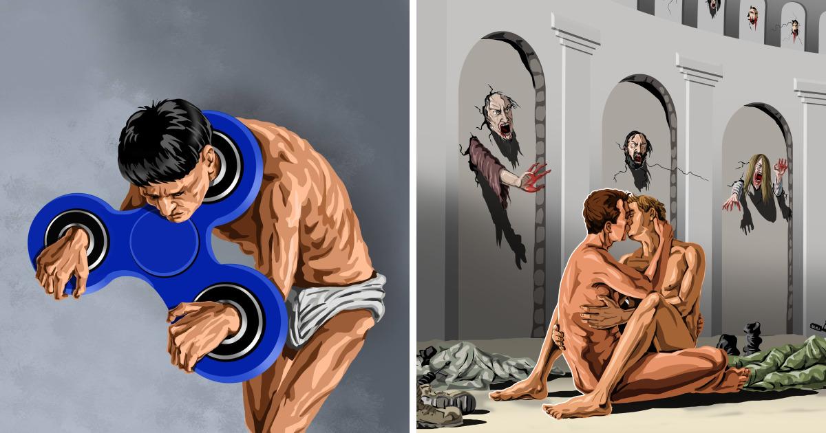 Satirical Illustrations Of Today S Problems By Gunduz