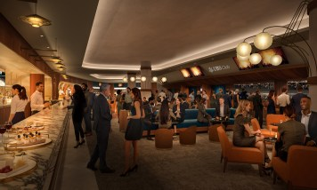 Interior rendering of the UBS club at the Islanders new arena