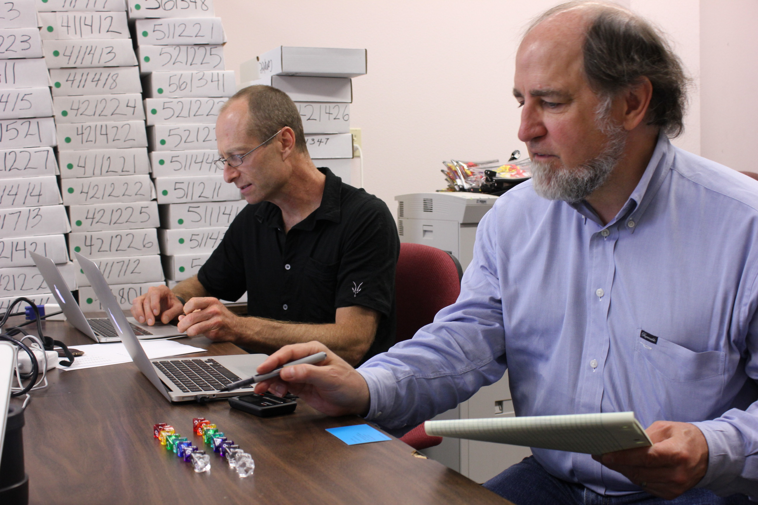Ron Rivest, an MIT cryptographer, helped Stark use 10-sided dice to produce a random seed.