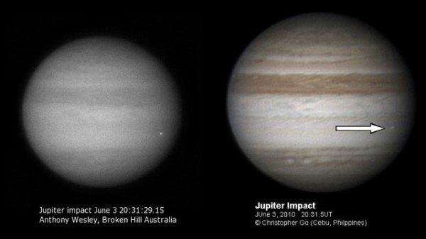 Jupiter hit by another impactor Thursday; video inside ...