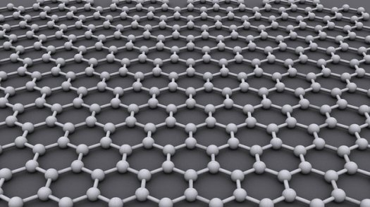 The ideal crystalline structure of graphene is a hexagonal grid.