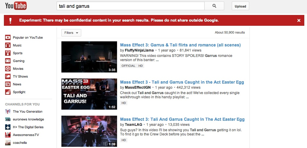 'Confidential Content'? YouTube Bug Shows Scary But