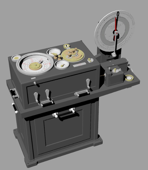 A 3D model of the Argo Clock, the heart of Arthur Pollen's fire control system. {focus_keyword} Before Silicon Valley got nasty, the Pirates of Analog Alley fought it out ArgoClockMkIVOverallView
