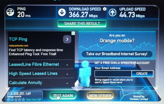 Hands On With The Fastest LTE Network In Europe 400Mbps Down 45Mbps Up Ars Technica