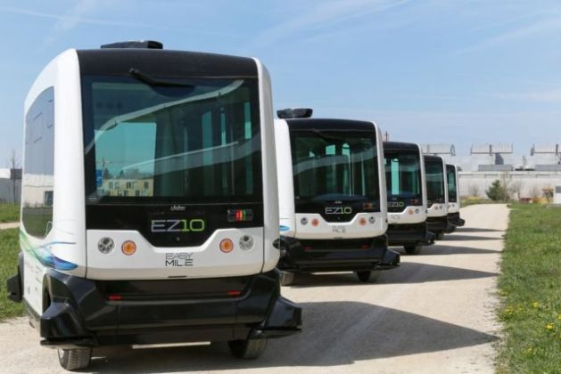EasyMile has already been testing its driverless people movers in Europe.