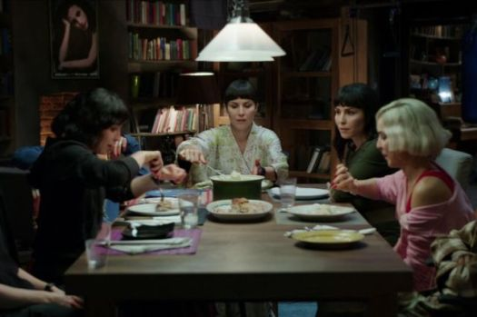 The Settman sisters enjoying a delightful, rat-infused dinner.