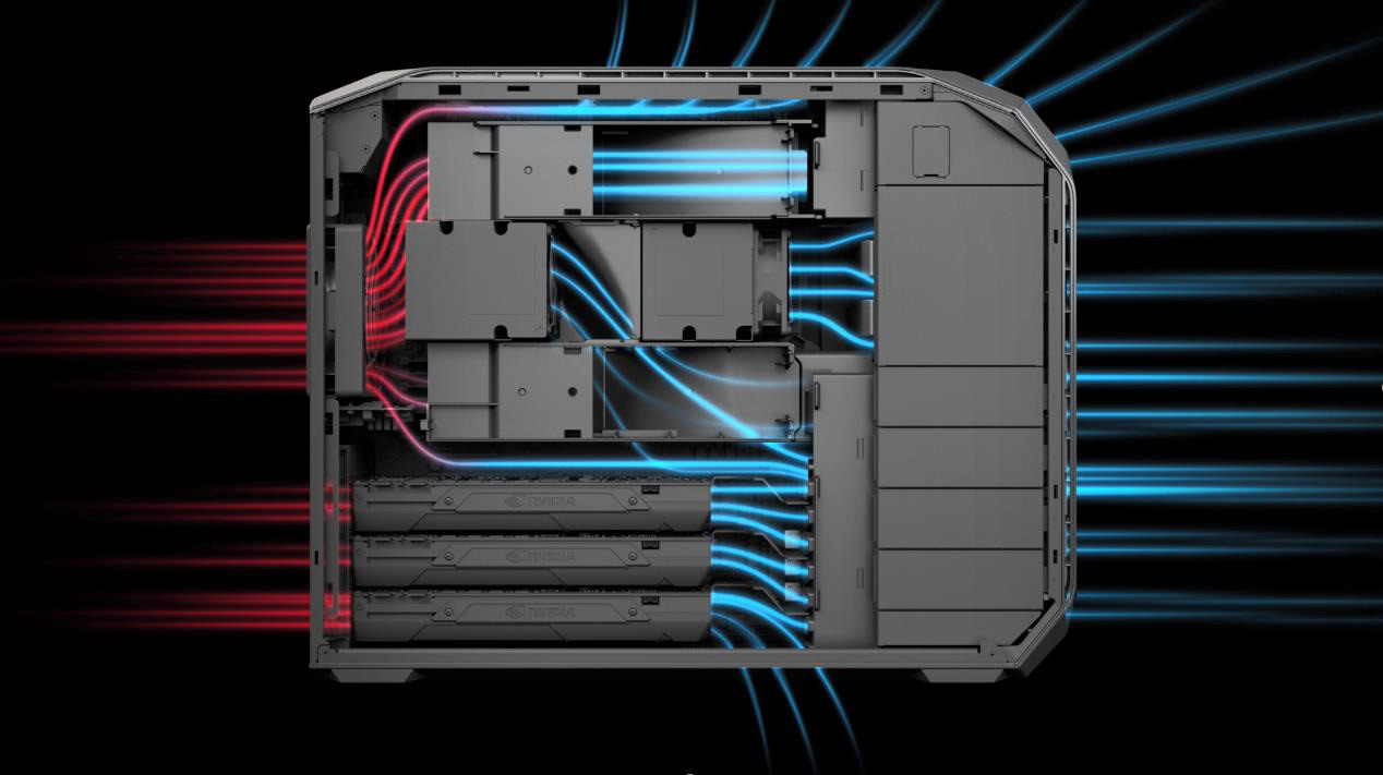 The airflow through the Z8 is very fancy.