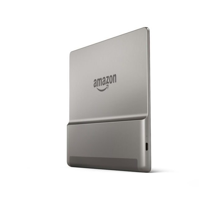 The new Kindle Oasis has an aluminum back. Sadly, it also uses an old micro-USB port.