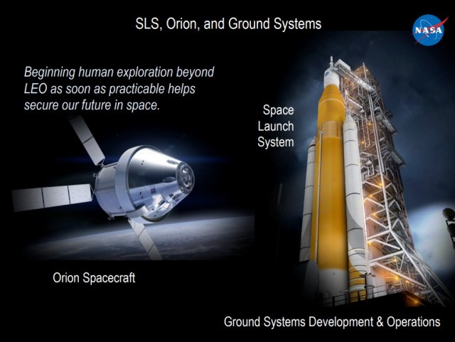 These are the key components of NASA's Exploration Systems Development program.
