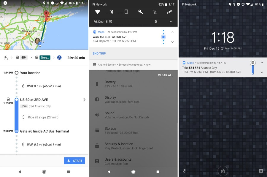 Google Maps finally gets step by step transit navigation   Ars Technica Enlarge   Left  Google Maps Transit directions with the new  start  button   Center and right  the new transit navigation notification