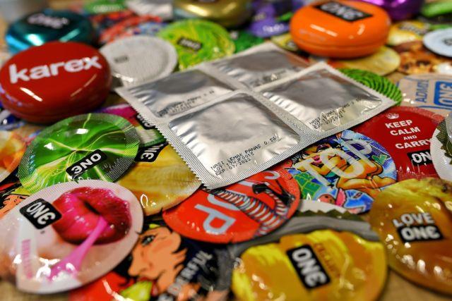 Condoms at Karex Industries headquarters in Port Klang, Malaysia.