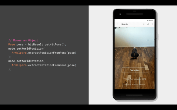 The Sceneform SDK enables easy AR for java developers.