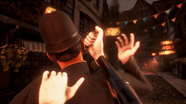 Stylish and smothered in story, but also very, very familiar looking. You've stabbed baddies in the back before, and <em>We Happy Few</em> leans into that <em>Bioshock</em> resemblance.