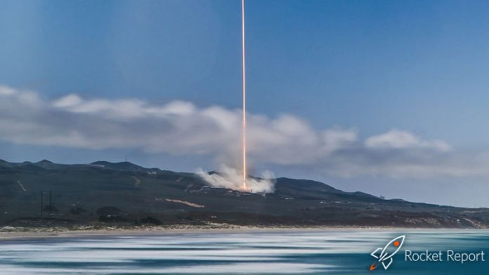A rocket from Falcon 9 takes off from Vandenberg Air Force Base.