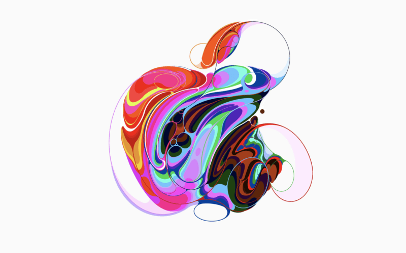 One of several styled Apple logos associated with the October 30 event.