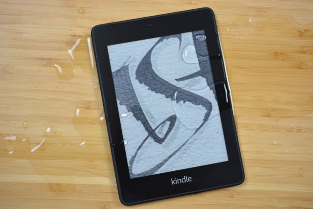Amazon's waterproof Kindle Paperwhite.