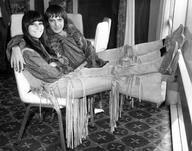 Sonny Bono (right) in 1965. Bono was elected to Congress and then died in 1998. His colleagues in Congress dedicated the 1998 copyright extension legislation to his memory.