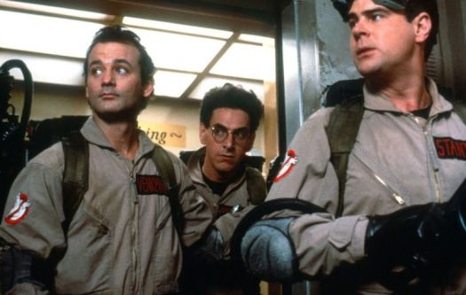 Who ya gonna call? Three of the four original Ghostbusters: Bill Murray, the late Harold Ramis, and Dan Ackroyd.