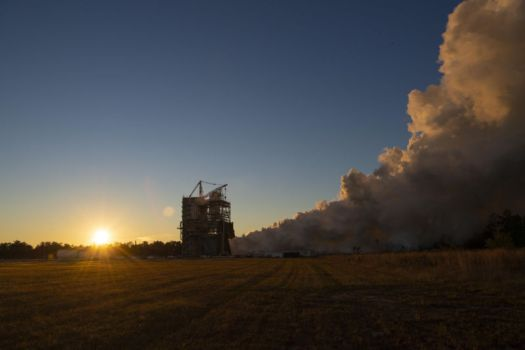 NASA conducts a full-power, full-duration 650-second RS-25 engine test on the A-1 Test Stand at Stennis Space Center.