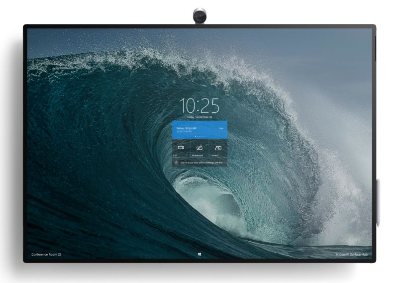 50-inch Surface Hub 2S: $8,999, shipping in June; 85-inch version next year